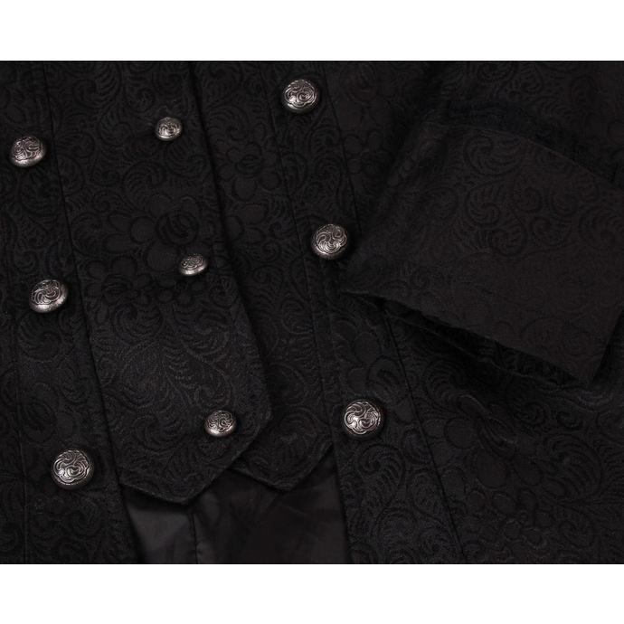 kabát dámský HEARTS AND ROSES - Black Brocade