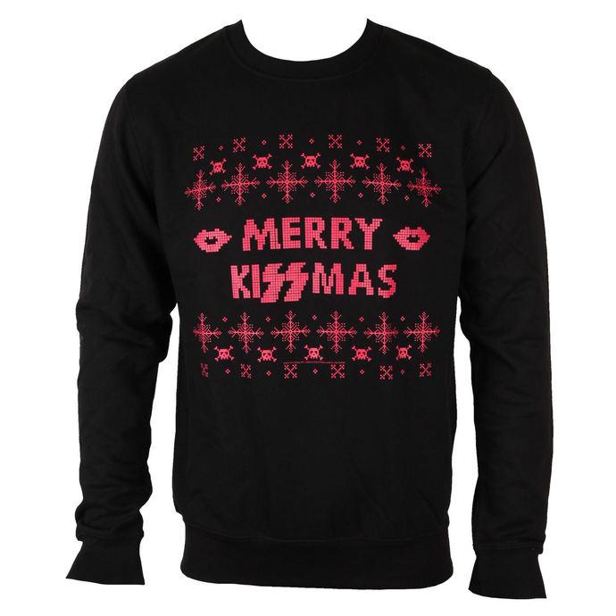 mikina pánská KISS - Merry Kissmas - PLASTIC HEAD