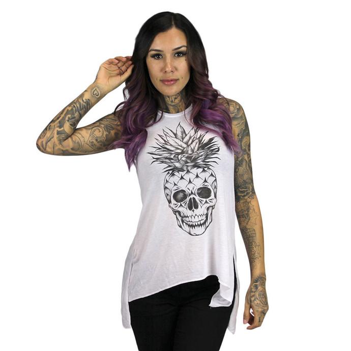 tílko dámské SULLEN - Pineapple Skull - White
