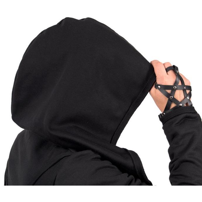 náramek AMENOMEN - kožený - Pentagram - Black