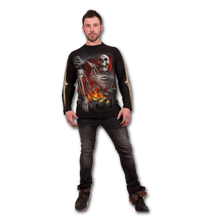 tričko pánské s dlouhým rukávem SPIRAL - Death Re-Ripped