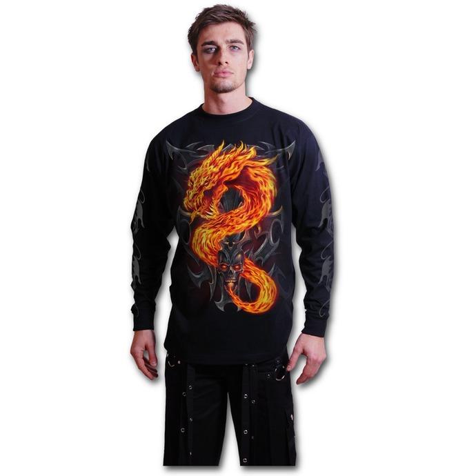 tričko pánské s dlouhým rukávem SPIRAL - Fire Dragon