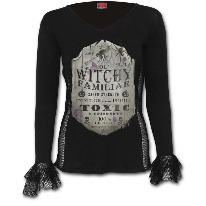 tričko dámské s dlouhým rukávem SPIRAL - Witchy Familiar
