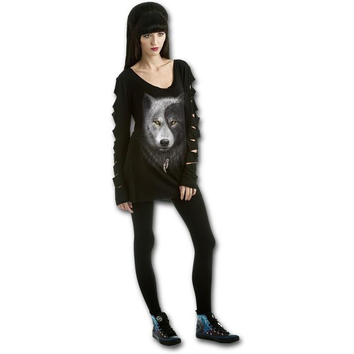 tričko dámské s dlouhým rukávem SPIRAL - Wolf Chi
