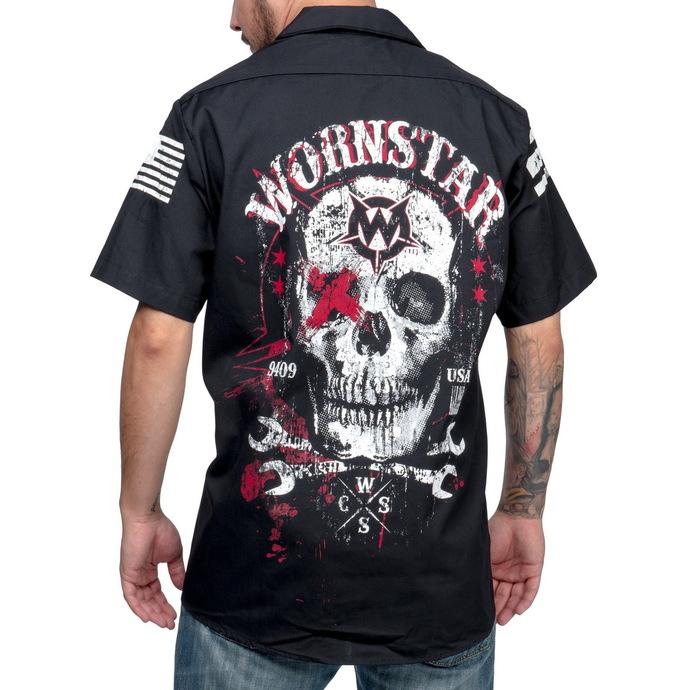košile pánská WORNSTAR - Death Mechanic - Black