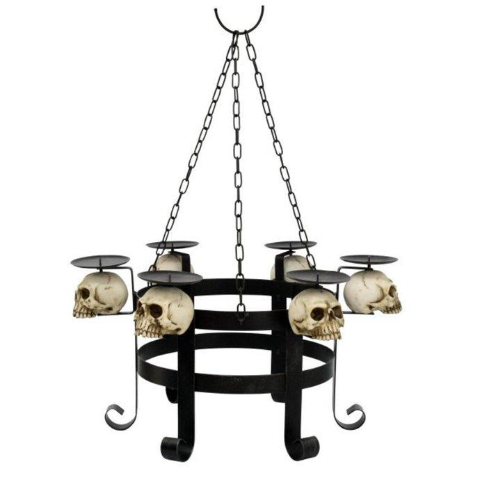 lustr na svíčky Skull