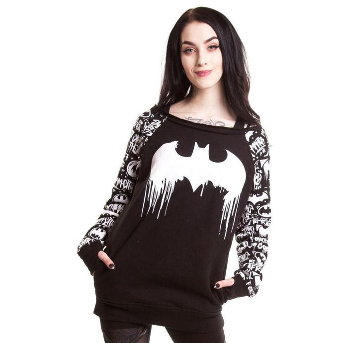 mikina dámská BATMAN - Graffiti - Batman - Black