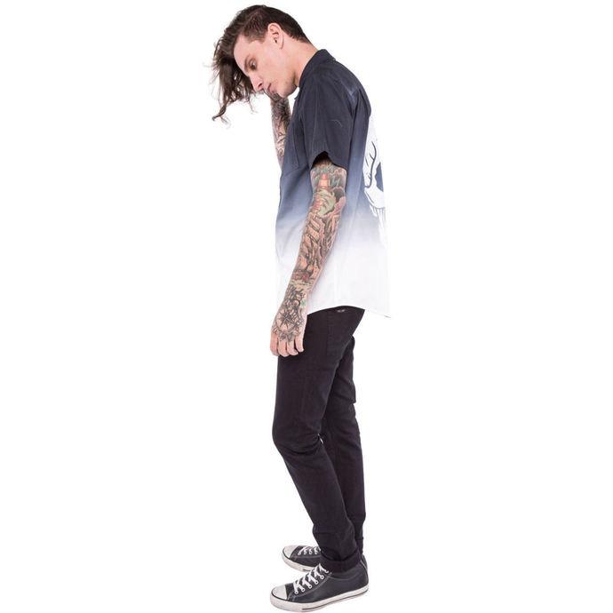 košile pánská IRON FIST - Death Breath - Dip Dyed - Black/White