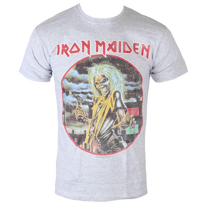 tričko pánské Iron Maiden - Killers - Cirlcle - Heather - ROCK OFF