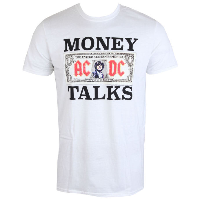 tričko pánské AC/DC - Money Talks - LOW FREQUENCY - White