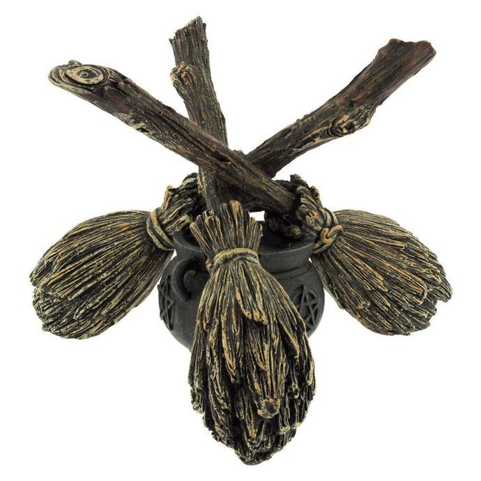 dekorace (držák křišťálové koule) Broomstick Crystal - NENOW