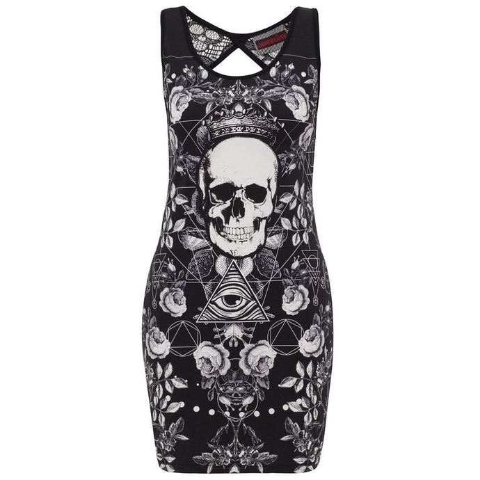 šaty dámské JAWBREAKER - Blk/Wht Skull