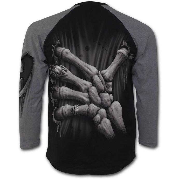 tričko pánské s dlouhým rukávem SPIRAL - Death Grip - Black