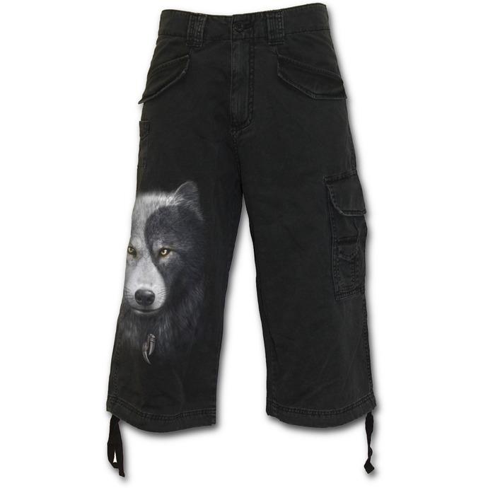 kraťasy pánské 3/4 SPIRAL - Wolf Chi - Black