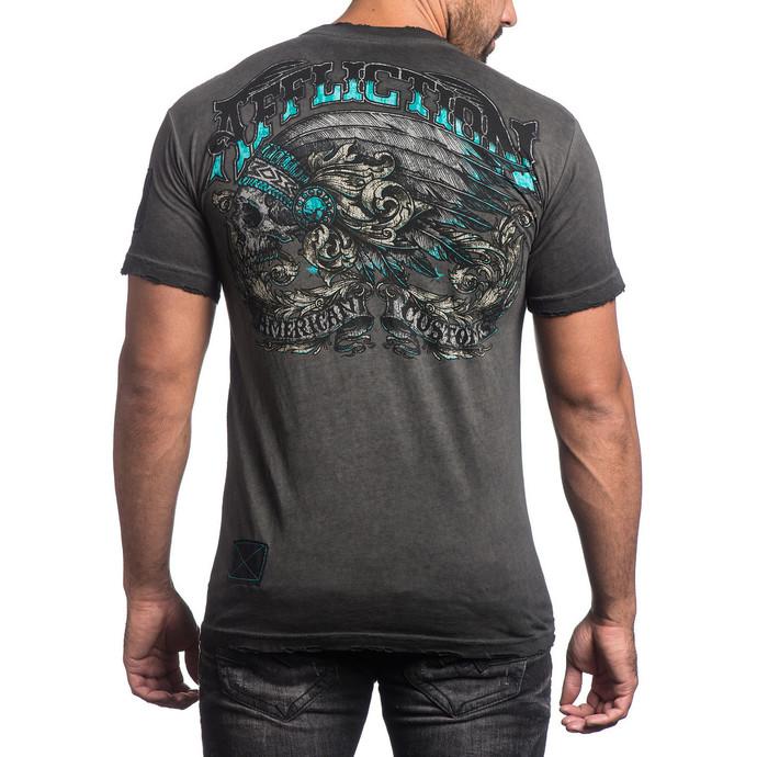 tričko pánské AFFLICTION - Apache Freedom - BKGE