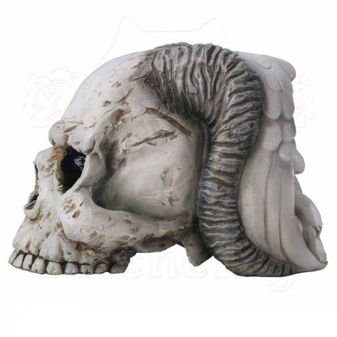 dekorace ALCHEMY GOTHIC - Angel of Hades Skull