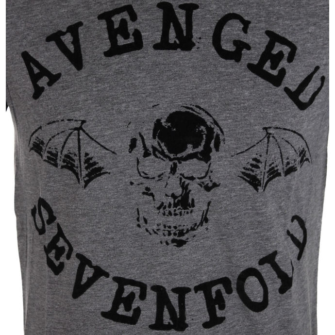 tričko pánské Avenged Sevenfold - Classic Deathbat Acid Wash - ROCK OFF