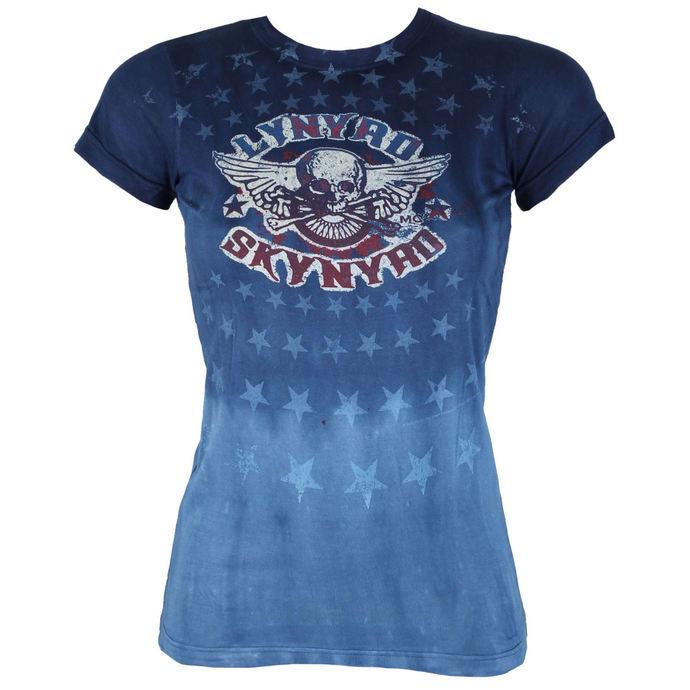 tričko dámské Lynyrd Skynyrd - Skynyrd Stars Tie-Dye Juniors - LIQUID BLUE