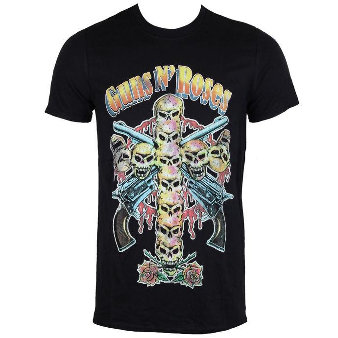tričko pánské Guns N' Roses - Skull Cross 80's - ROCK OFF