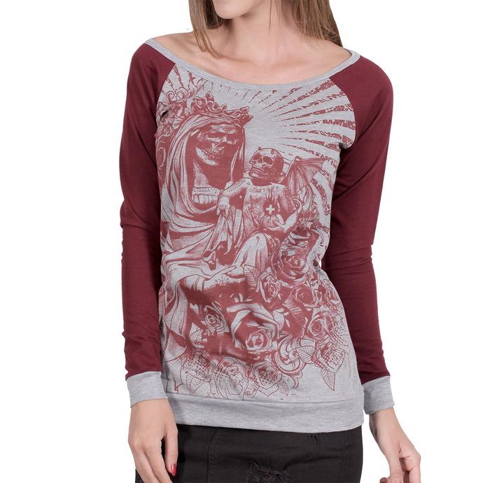 tričko dámské s dlouhým rukávem HYRAW - Black Santa