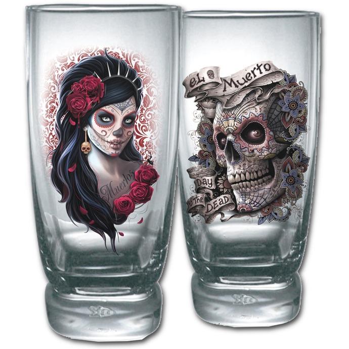 sklenice (sada 2ks) SPIRAL - DAY OF THE DEAD
