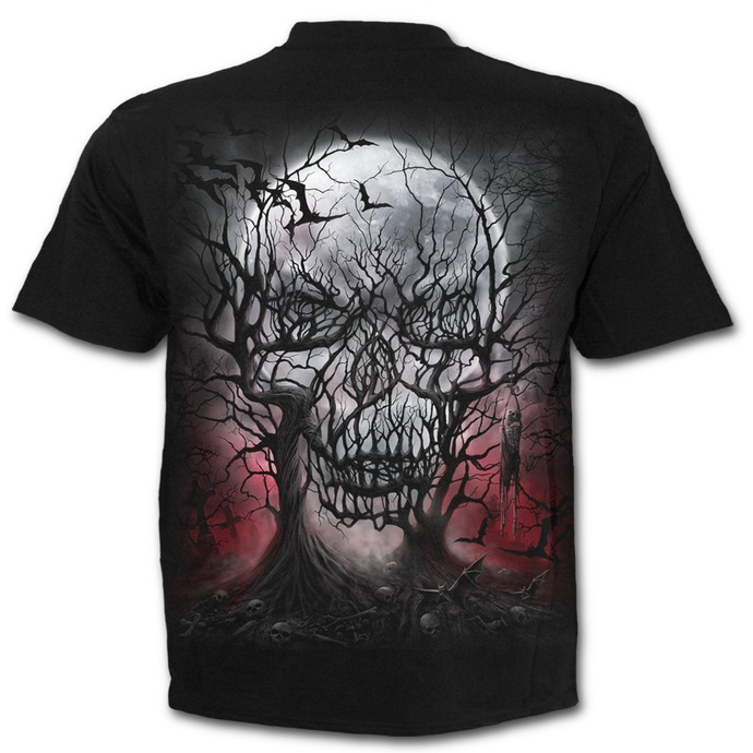 tričko pánské SPIRAL - DARK ROOTS - Black