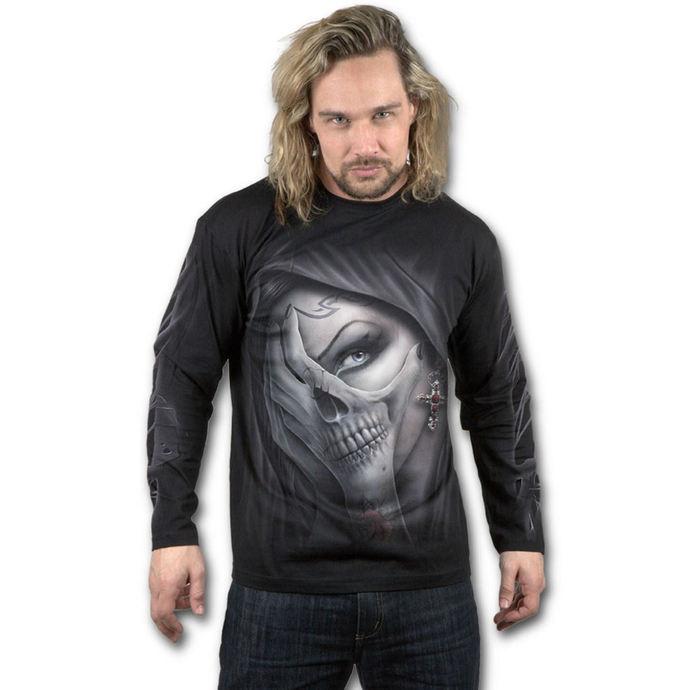 tričko pánské s dlouhým rukávem SPIRAL - DEAD HAND - Black