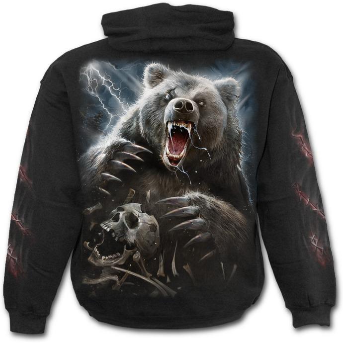 mikina pánská SPIRAL - BEAR CLAWS - Black