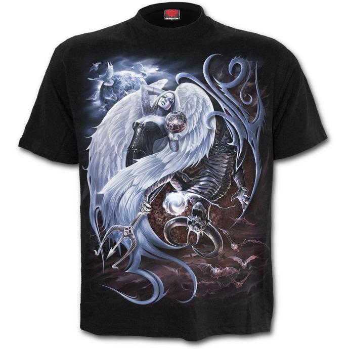 tričko pánské SPIRAL - YIN YANG - Black