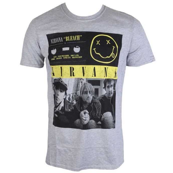 tričko pánské Nirvana - Bleach Tape Photo - PLASTIC HEAD