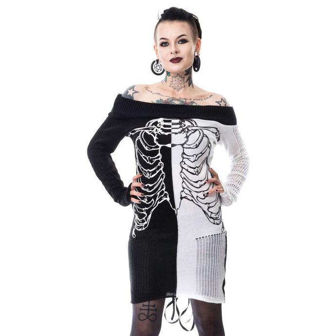 svetr (tunika) dámský HEARTLESS - SPLIT END - BLACK/WHITE