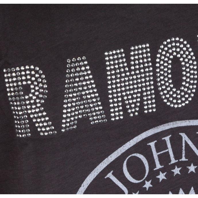 tílko pánské RAMONES - LOGO SILVER DIAMANTE - CHARCOAL - AMPLIFIED