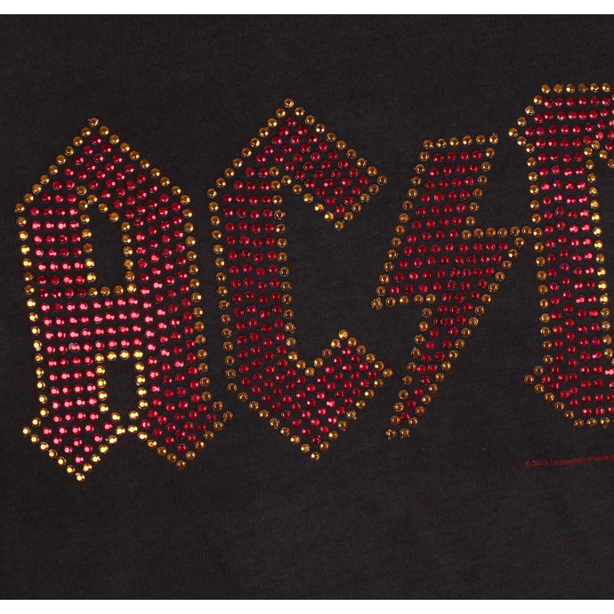 tričko pánské AC/DC - CLASSIC LOGO CHARCOAL RED - AMPLIFIED