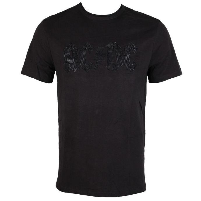 tričko pánské AC/DC - CLASSIC LOGO CHARCOAL BLACK - AMPLIFIED