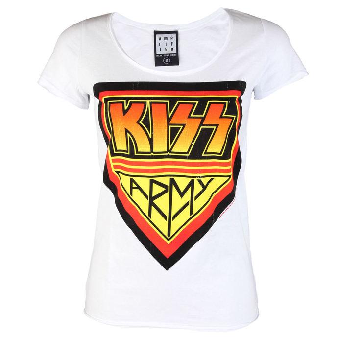 tričko dámské KISS - DISTRESSED ARMY WHITE - AMPLIFIED