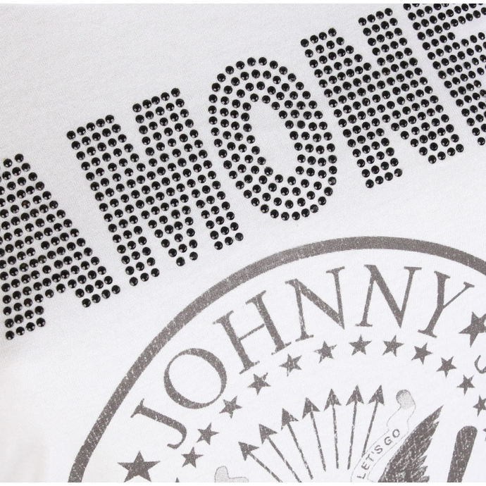 tričko dámské RAMONES - LOGO DIAMANTE - WHITE - AMPLIFIED