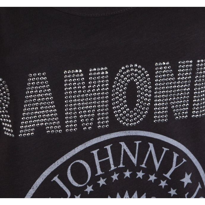 tílko dámské RAMONES - LOGO DIAMANTE SILVER - CHARCOAL - AMPLIFIED