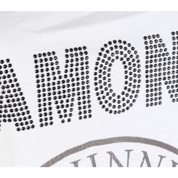 tílko dámské RAMONES - LOGO DIAMANTE - WHITE - AMPLIFIED