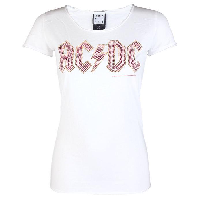 tričko dámské AC/DC - LOGO WHITE RED - AMPLIFIED