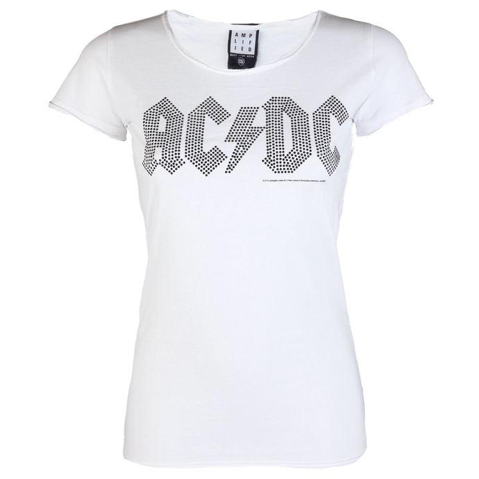 tričko dámské AC/DC - LOGO WHITE BLACK - AMPLIFIED