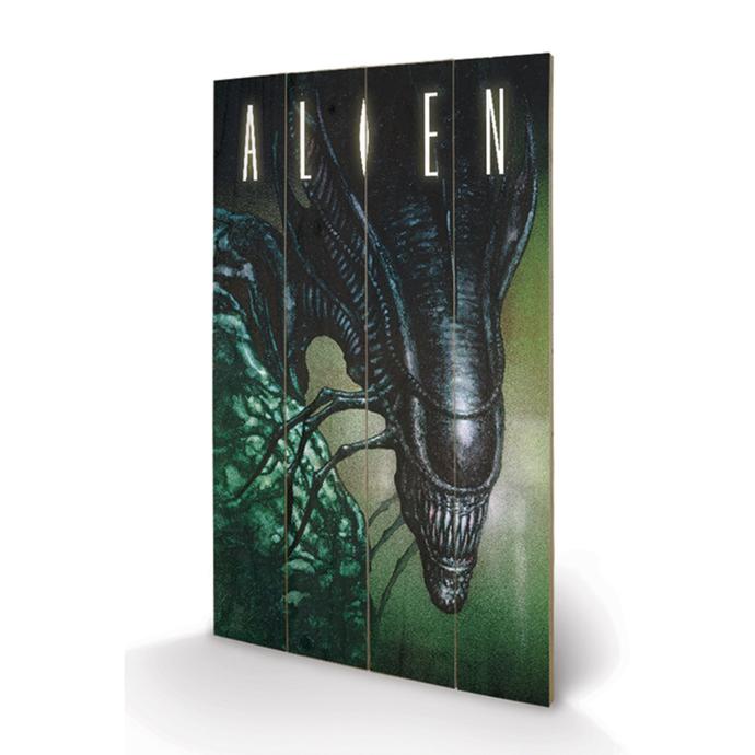 dřevěný obraz Alien - Creep - Pyramid Posters