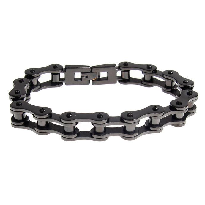 náramek ETNOX - Black Bike Chain