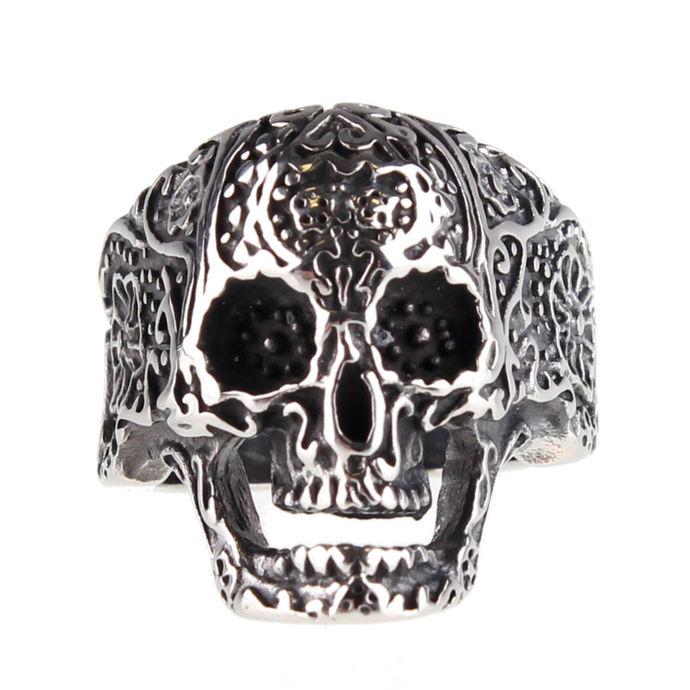 prsten ETNOX - Ornament Skull