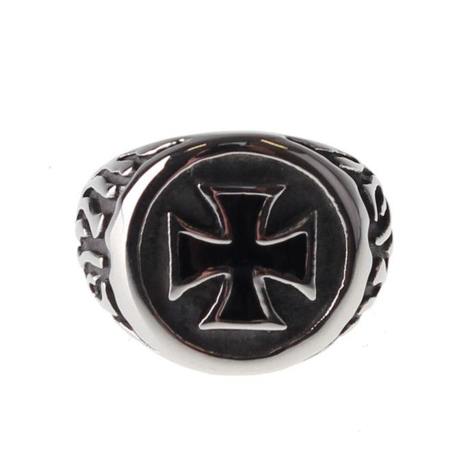 prsten ETNOX - Black Iron Cross