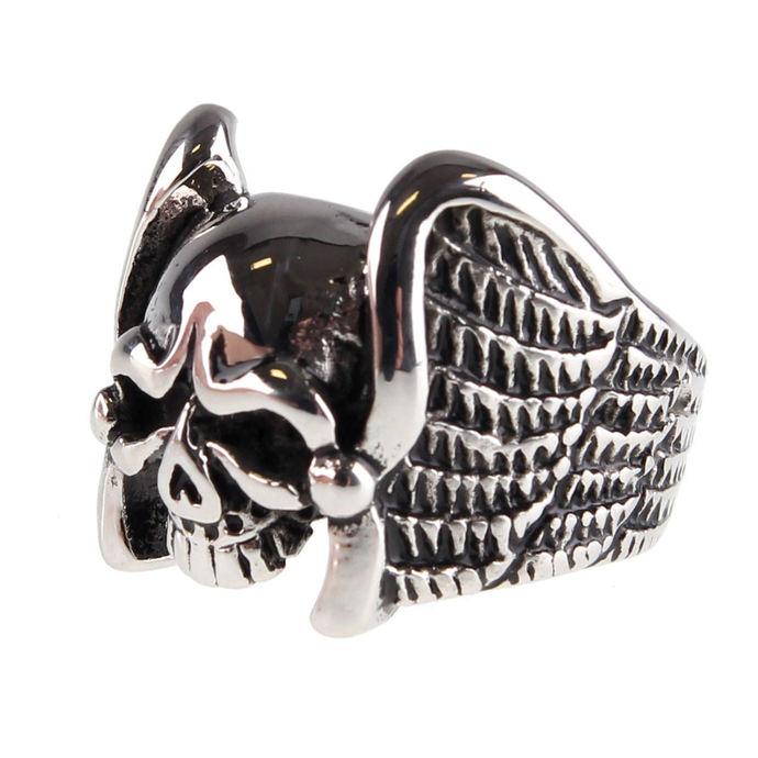 prsten ETNOX - Winged Skull