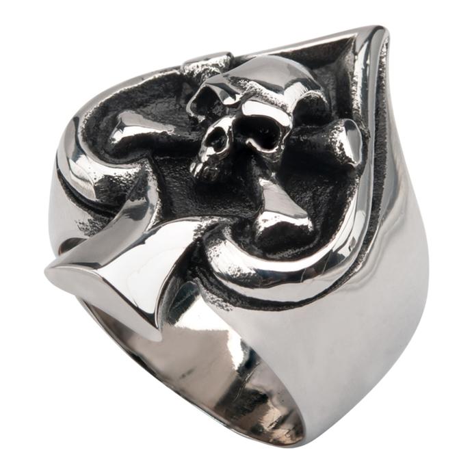 prsten INOX - SKULL SPADE