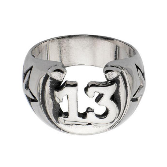 prsten INOX - BLK LCKY13 HORSHOE