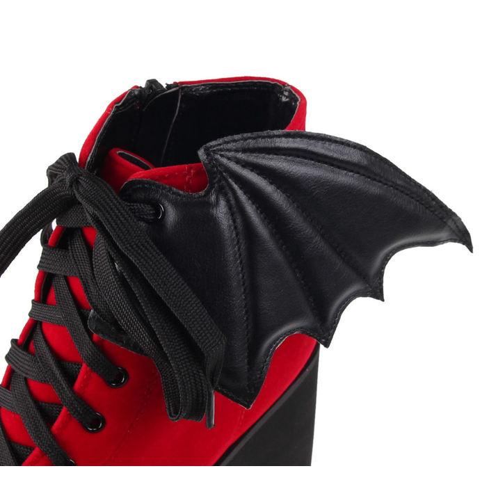 boty dámské IRON FIST - Bat Wing Boot Red Velvet