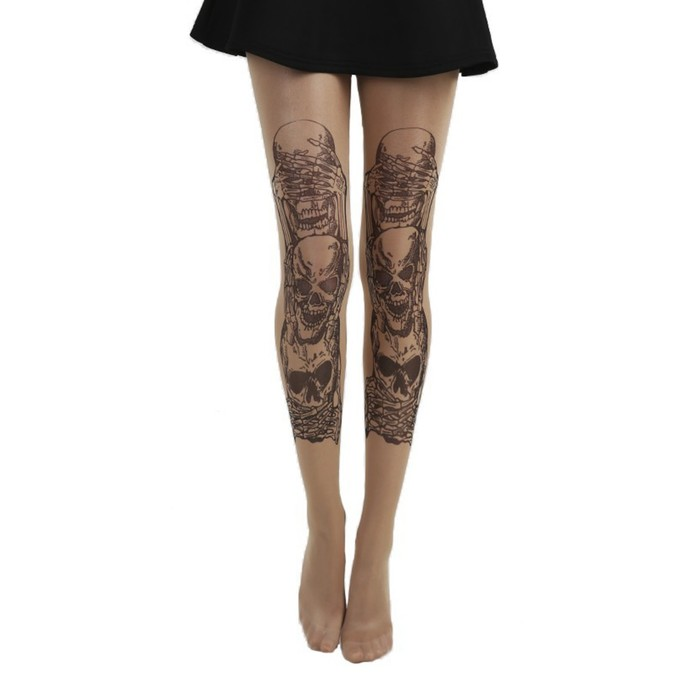 punčocháče PAMELA MANN - See, Hear, Speak No Evil Tattoo
