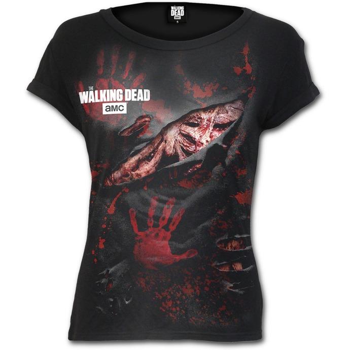 tričko dámské SPIRAL - LOGO - BLOOD - Walking Dead - Black